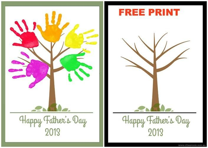 free printable fathers day cards add photo