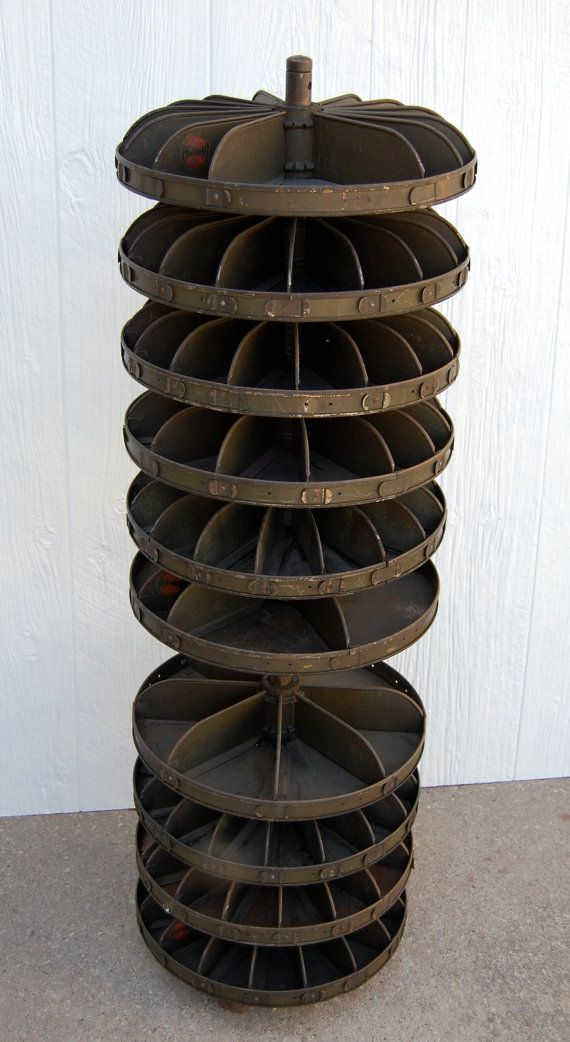 vintage revolving lazy susan : perfect for storing supplies!
