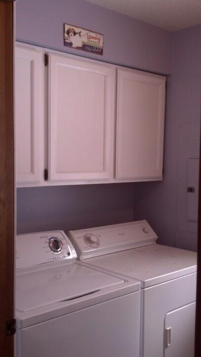 My purple laundry room makes me smile.
