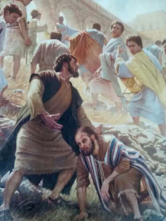 Paul Survives Stoning Acts 14 19 20 Bible Pictures