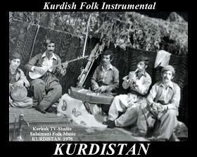 Kurdish Folk Music Group in Bagdad, 1976.
