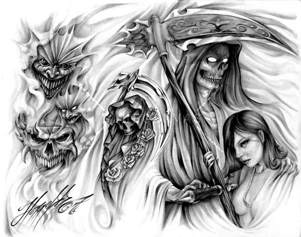 evil tattoo flash awasteoftalent evil tattoo flash at bluecanvas the artist network. Black Bedroom Furniture Sets. Home Design Ideas