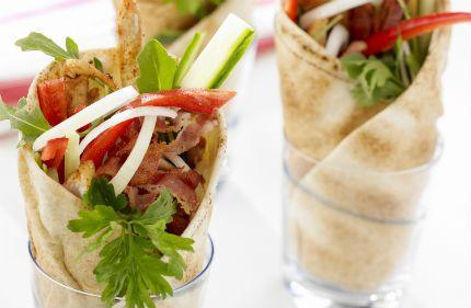 Veckans Mello-mat - wraps med kyckling och bacon