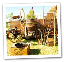 Authentic 1880s trail wagons at the Chandler Chuck Wagon Cook-Off, Veteran's Day Weekend #chanderaz #chuckwagon