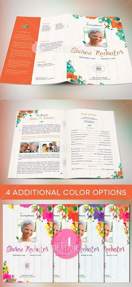 460 best Best Creative Funeral Program Templates for Photoshop - funeral brochure template