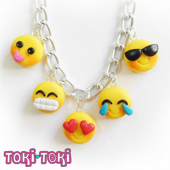 Fun Emoji Bracelet Emoticon Charms Smiley by MadeByTokiToki