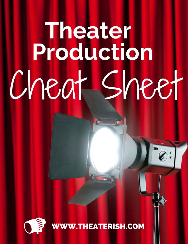 Free theater production cheat sheet - the full timeline of a successful theater production