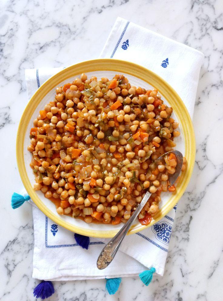 Vegan Chickpea and Swiss Chard Stew #vegan #veganfood #comfortfood #recipes #stew
