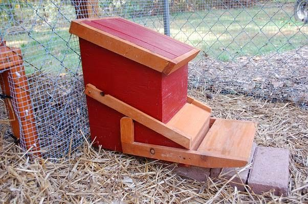 The automatic chicken feeder...  When we're talking about chicken feeders, it's the greatest contraption of all time!  For the complet...
