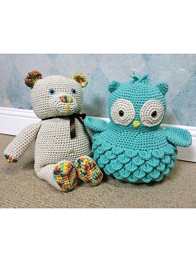 Cotton Bear & Ollie Owl Crochet Pattern download from Annie's Craft Store. Order here: https://www.anniescatalog.com/detail.html?prod_id=132641&cat_id=468