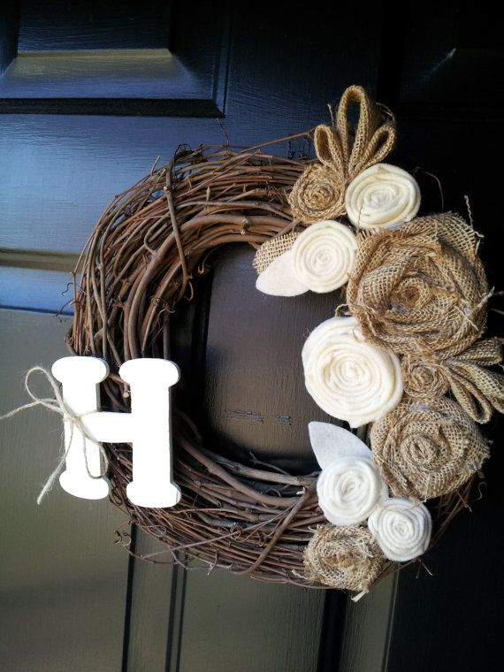 Could probably do this with leftover burlap and some flowers from my dress after the wedding!