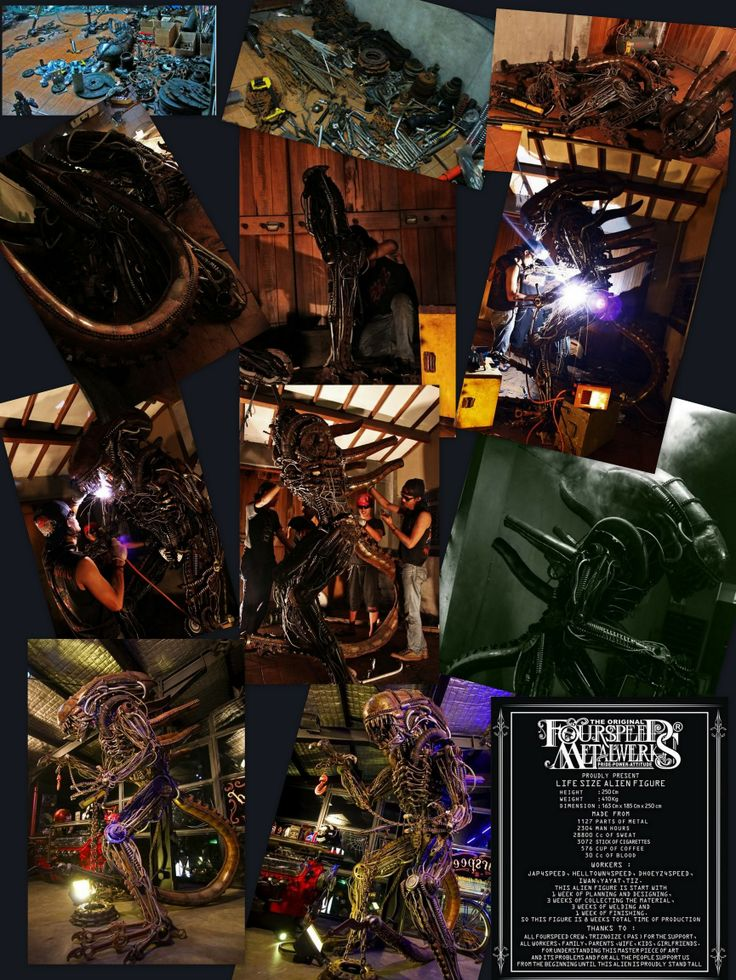 The Making of Lifesize Alien Figure by Fourspeed Indonesia