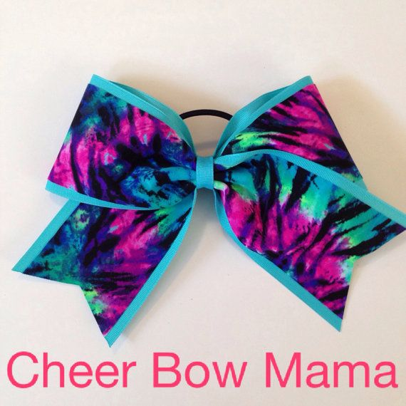 Tie-Dye Cheer Bow by Cheer Bow Mama