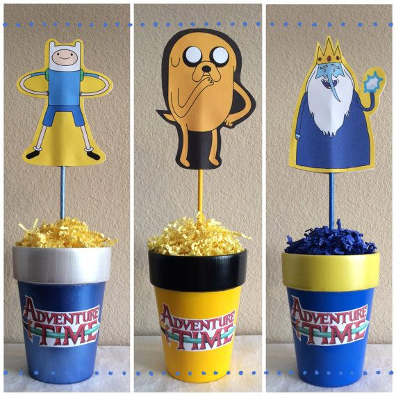Adventure Time Centerpieces by WhimzicalCreationz on Etsy, $15.99
