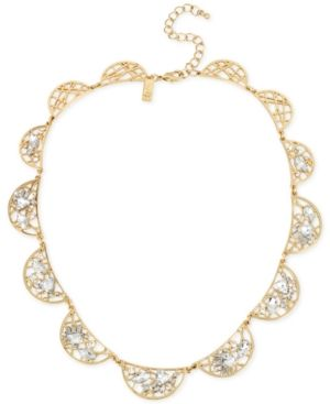 M. Haskell for Inc International Concepts Gold-Tone Crystal Web Necklace, Only at Macy's - Gold