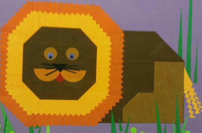 Vouwen 2d: leeuw