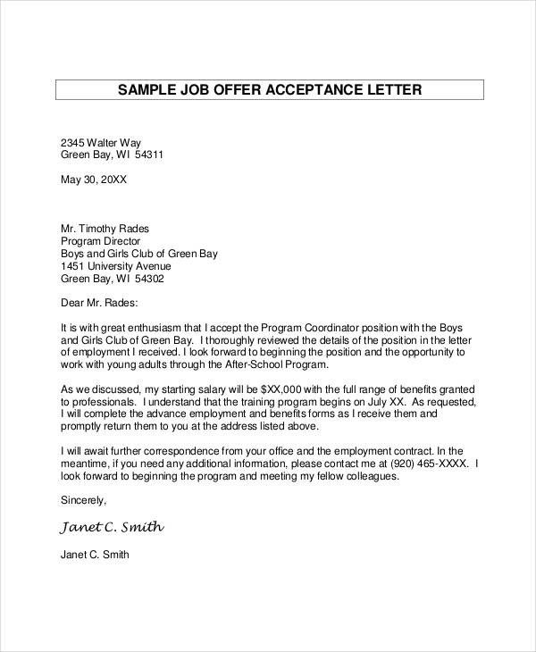 College Acceptance Letter Pdf Fresh 54 Formal Letter Examples And