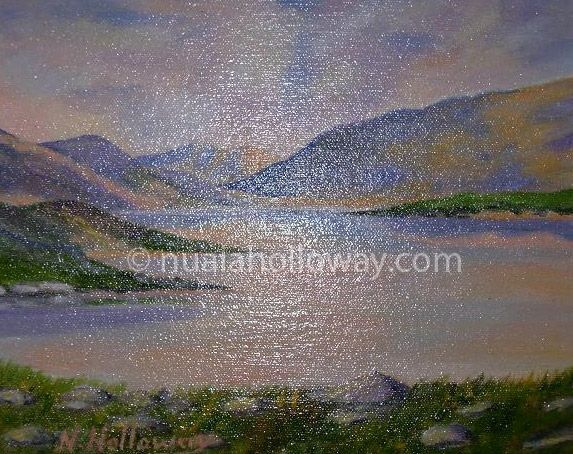 """""""Glenveagh, Donegal"""" by Nuala Holloway - Oil on Board #Donegal #Ireland #NualaHolloway #Artist"""