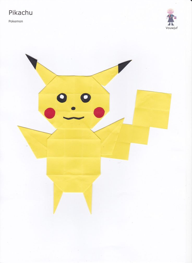 Vouwjuf: 30. Pikachu