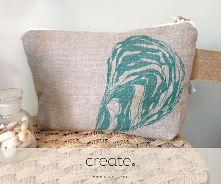 #WIN an amazing #handmade linen wash-bag with a lovely oyster shell print from the wonderful Kate Wakley Textiles with this week's Freebie Friday! Enter on Facebook.