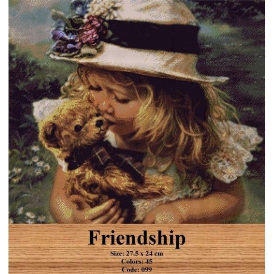 Gobelin Tapestry Kit Friendship http://gobelins-tapestry.com/portraits/946-friendship.html