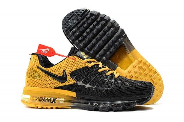 Running Shoes Men S Nike Air Max Spiderman Kpu Black With Yellow Cheap Nike Air Max Mens Nike Shoes Nike Air Max