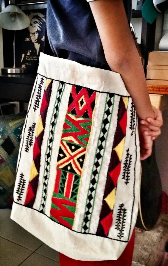 Tribal motive handembroided slingbag  #ethnic #tribal #culture #totes #slings #coloursoflife #embroidedwithlove #embroidery #handcrafted #diy #bloodsweatandtears #beadedsoul