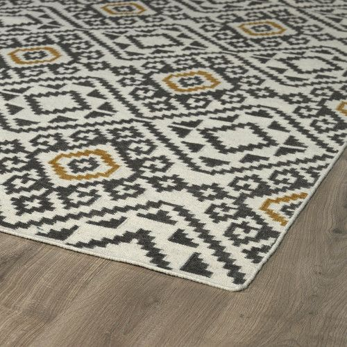 Found it at Wayfair - Nomad Charcoal Geometric Area Rug