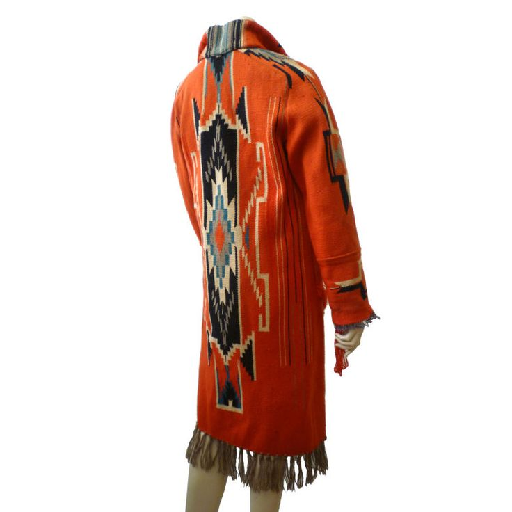 Vintage Chimayo Santa Fe Style Blanket Coat | From a collection of rare vintage coats and outerwear at http://www.1stdibs.com/fashion/clothing/coats-outerwear/