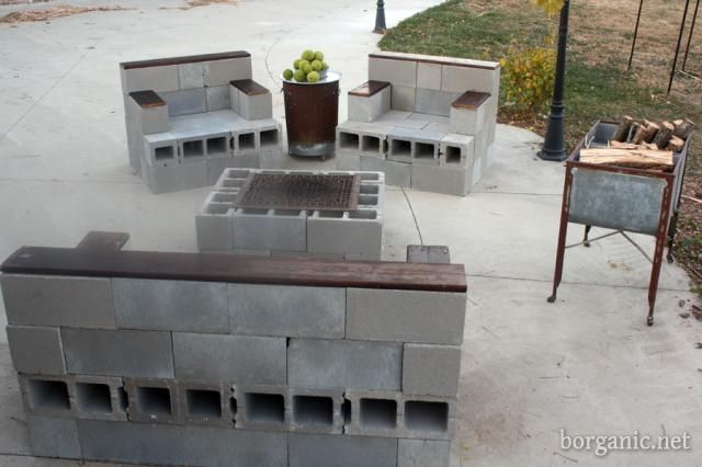 Amazing must do DIY project for porch cinder blocks of varying sizes