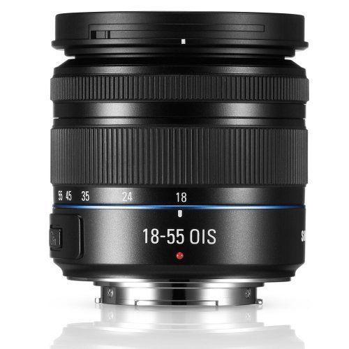 Samsung NX 18-55MM Zoom Camera Lens Black Standard EX-S1855IB/US Very Good