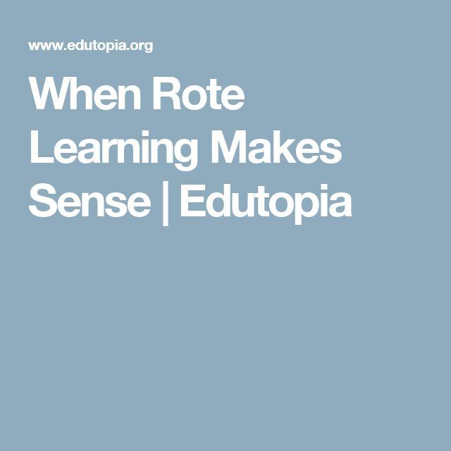 When Rote Learning Makes Sense | Edutopia