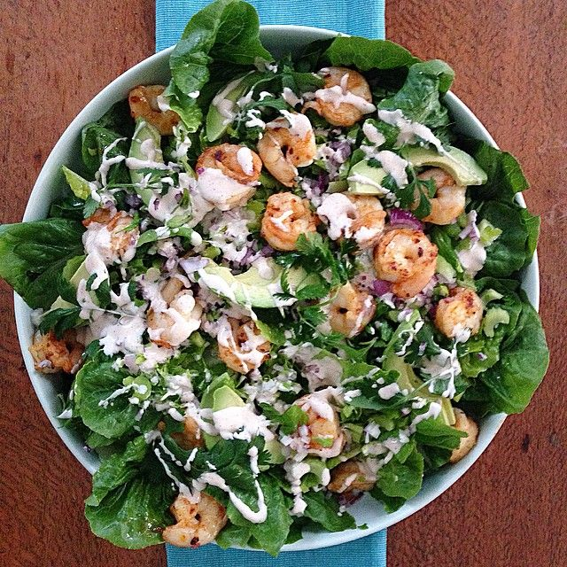 """""""This #iqs8wp Prawn Cocktail Salad with Smokey Mayo, is so simply perfect. There really isn't anything that could make this better @iquitsugar #iqs…"""""""