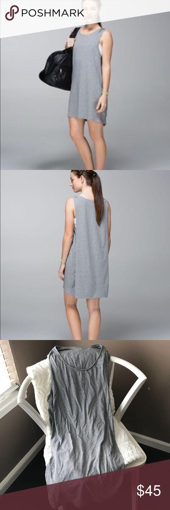 Lululemon dress Awesome used condition dress lululemon sz 6 grey 😀 just a little wrinkled from drawer lululemon athletica Dresses