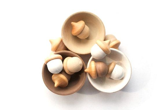 Natural Sorting Toy - Eco Friendly Stacking Stacking Toy - Montessori Color Cards - Color Matching - on Etsy, $15.00