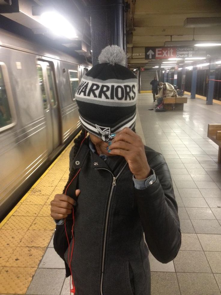A Vodafone Warriors supporter spotted this local New Yorker wearing a Vodafone Warriors beanie in the subway #WarriorsForever #NewYork #Beanie #Warriors