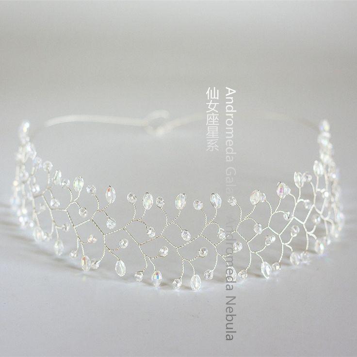 Оригинальный свадебный подружки кристалл тиара короны волосы гирлянда оголовье Ван Guanhuang свинца китайские аксессуары для волос свадебный цветок - Taobao