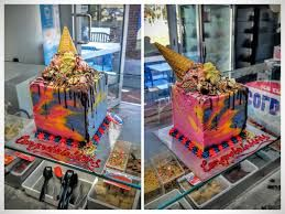 Image result for cold rock rainbow ice cream cake