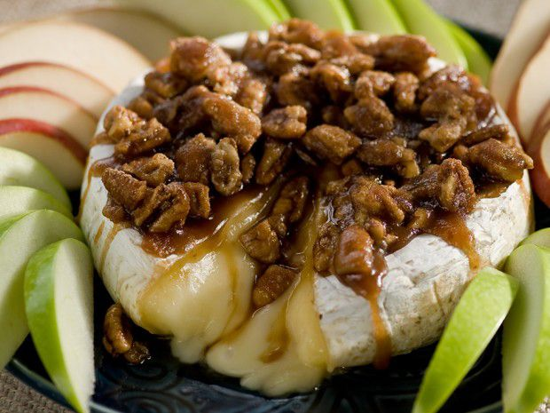 Sugar and Nut Glazed Brie from FoodNetwork.com- made this for Thanksgiving last year and it was the hit of the meal!! So, so delicious!