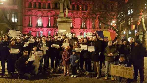 Protest Manchester Duminica 05.02.2017