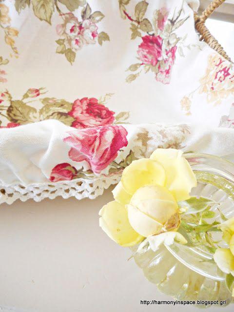 Ιδέες για διακόσμηση: Καλάθι με floral επένδυση!