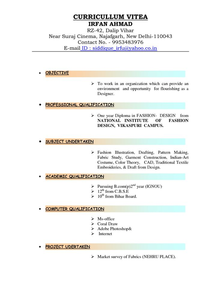 types of resume formats it project manager resume example it