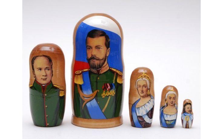 Matryoshka nesting doll Tsars Russian kings from ArtMatryoshka by DaWanda.com