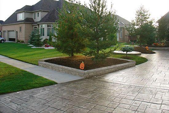 Stamped Concrete Concrete Patio Concrete Retaining