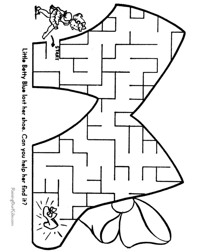 free mazes printable activities for kids - Fun Printable Activities