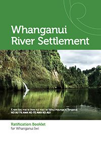 Ratification document that is being viewed by those who are registered as Uri to Te Awa Tupua