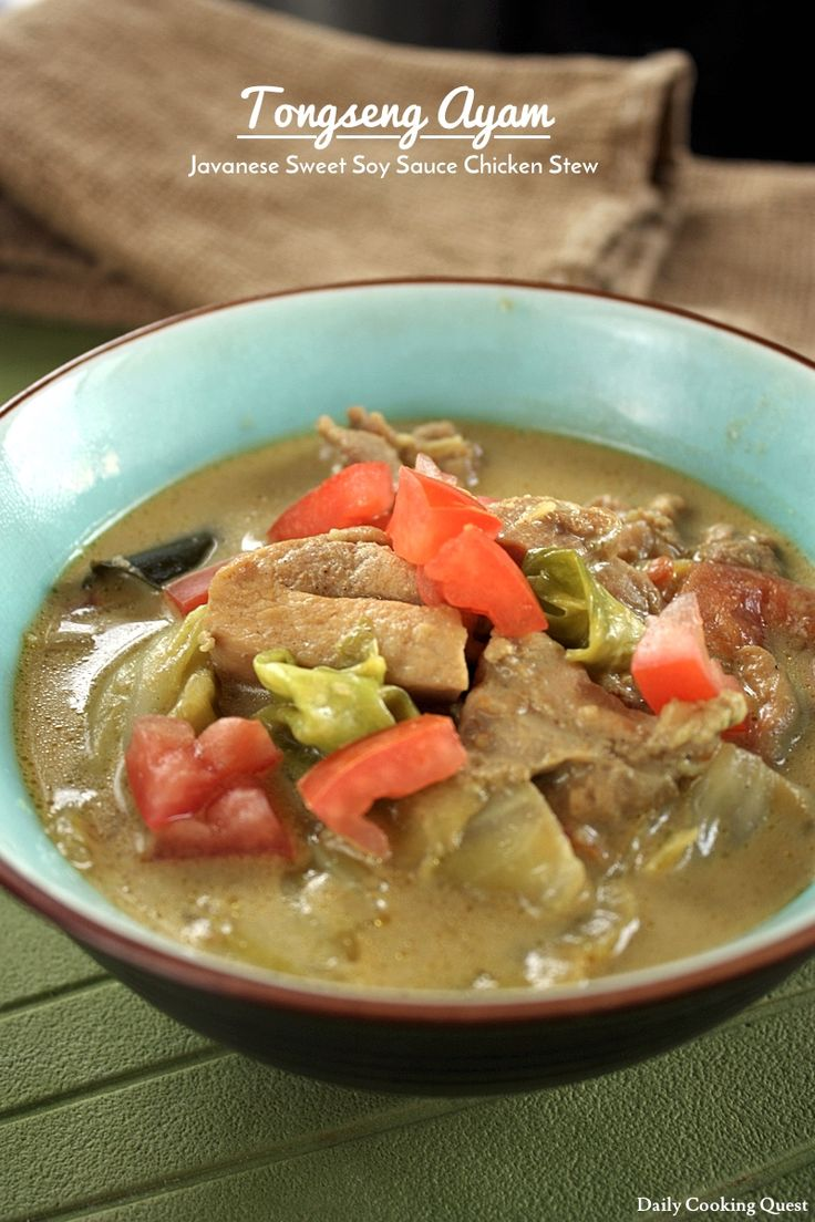 Tongseng Ayam - Javanese Sweet Soy Sauce Chicken Stew
