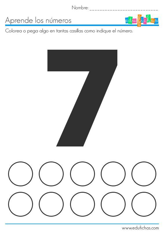 fichas preescolar pegatinas y numeros