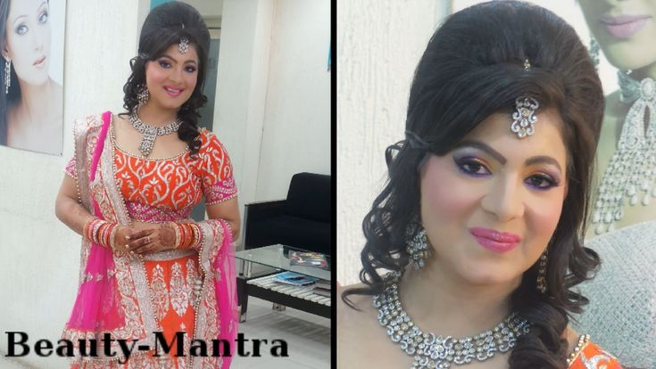 Indian Wedding Makeup - Neon Party Look - Complete Hair And Makeup