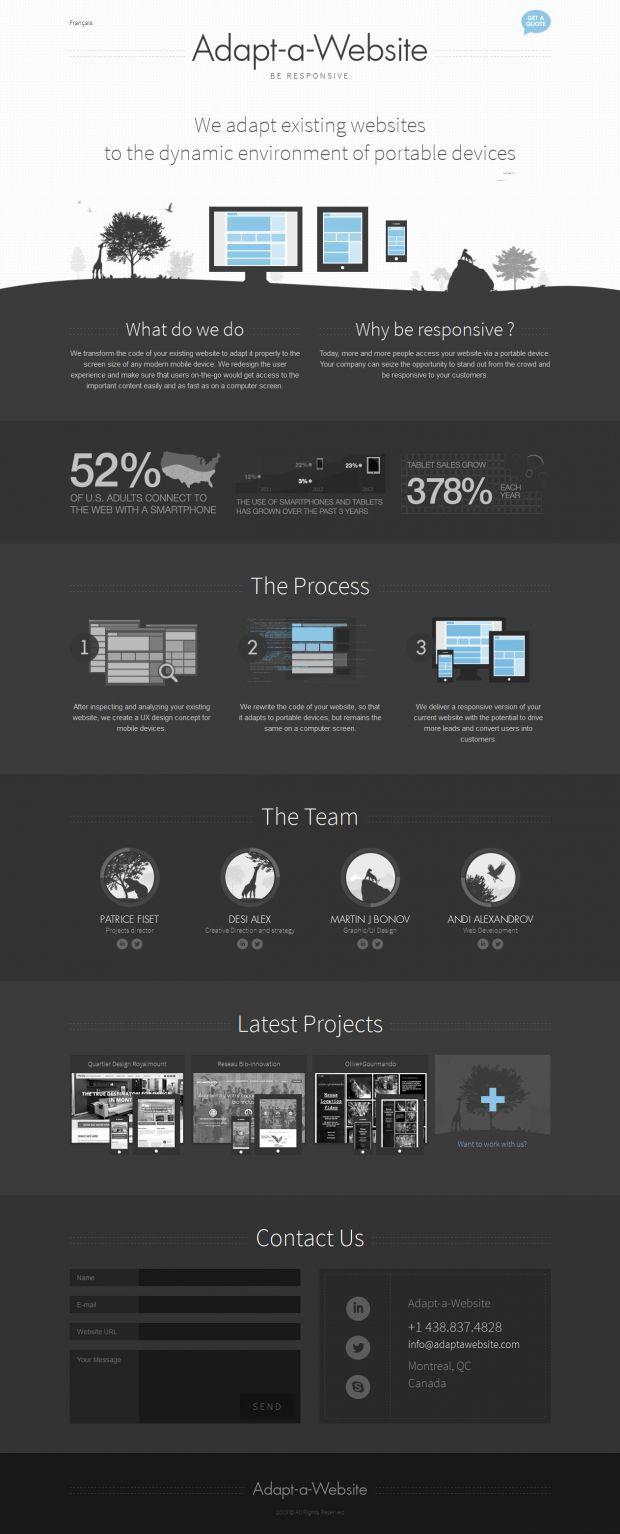Unique Web Design on the Internet, Adapt-a-Website #webdesign #websitedesign #website #design http://www.pinterest.com/aldenchong/